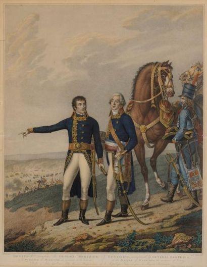 Bonaparte, accompagné du Général Berthier...