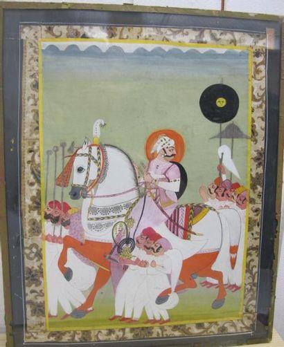 Miniature persane représentant un cavalier...