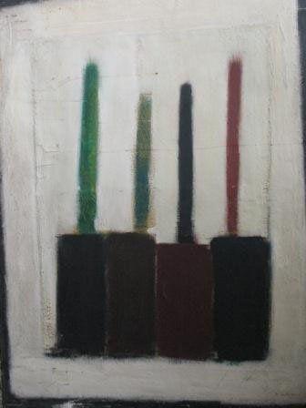 Jean-Pierre NOMINE (1949-1986) fonds d'atelier de 50 toiles.