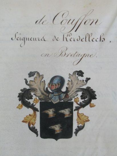 Archives de la famille de Couffin de Kerdellech...