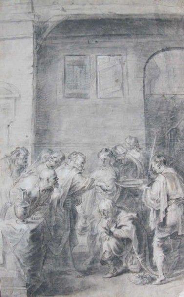 École flamande du XVIIème siècle Entourage de Jacob Jordaens