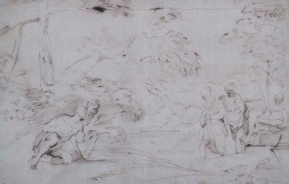 Ecole Italienne du XVIIème siècle Entourage de Pier Francesco Mola