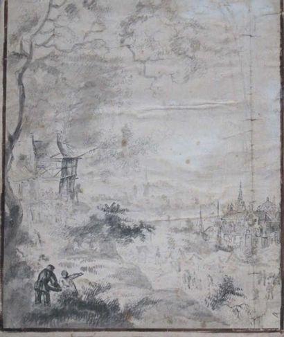 Ecole flamande du XVIIème siècle Entourage d'Herman Saftleven