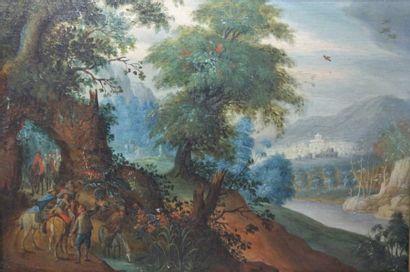 Ecole flamande du 17ème siècle, dans le goût de Brueghel