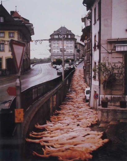Spencer TUNICK (né en 1967) Fribourg, 2001 Tirage argentique en couleur. Au dos:...