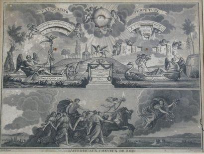 Calendrier perpétuel Gravure « l'aurore aux...
