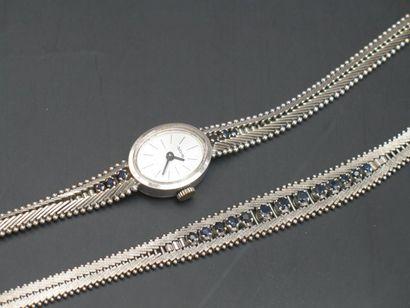 Montre bracelet de femme et bracelet en or...