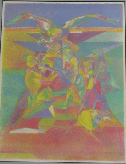 Ensemble de lithographies : S. Dali ; T....
