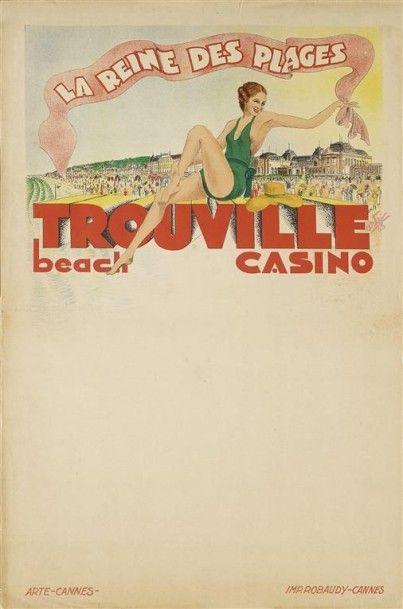 LA REINE DES PLAGES TROUVILLE beach casino....