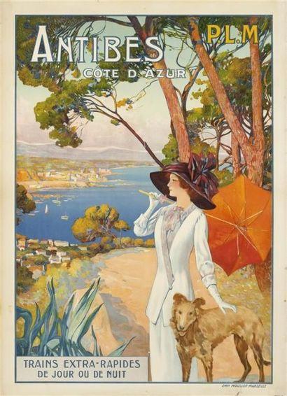 ANTIBES Côte d'Azur PLM 1911 imp. Moullot....