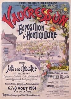 VAUCRESSON EXPOSITION D'HORTICULTURE 1904...