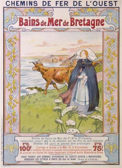 WILSER A. BAINS DE MER DE BRETAGNE imp. Chaix....