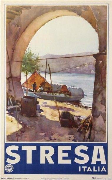 STRESA ITALIA 1949 imp. Saiga. Entoilée,...