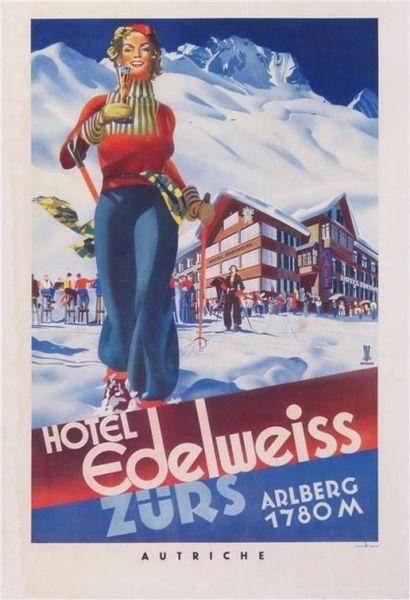 BERANN ZURS HOTEL EDELWEISS imp. Tyrolia....