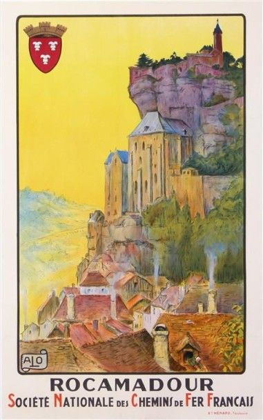 ALO. ROCAMADOUR 1921 imp. Menard. 62 x 99...