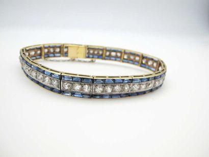 Elégant bracelet en or 750°/oo (18 k) et...