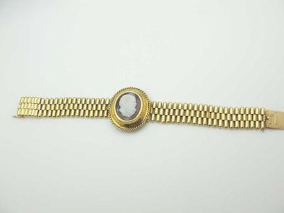 Bracelet en or jaune 750°/oo (18 k), maille...