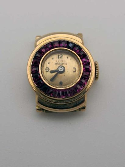 Montre bracelet de dame en or 750°/oo (18...