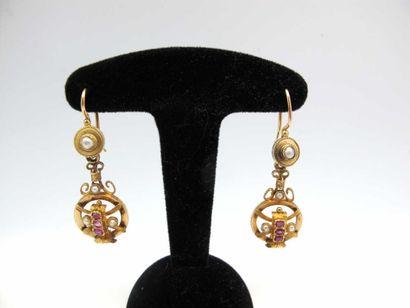 Boucles d'oreilles en or jaune 750°/oo (18...