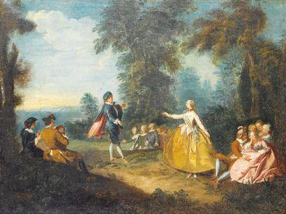 Ecole FRANCAISE du XVIIIème siècle, suiveur de Nicolas LANCRET