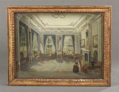 Hollande milieu du XVIIIeme siècle Scène...
