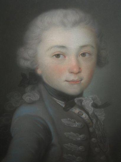 Ecole Française du XVIIIe. « Portrait d'enfant...