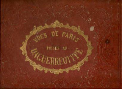 Collection de 28 vues de Paris prises au...