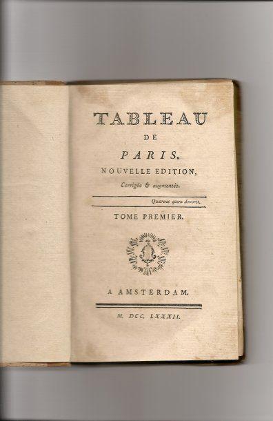 Tableau de Paris par Sébastien Mercier, Nouvelle...