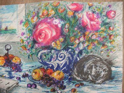 « Belles saisons». Colette lithographies...