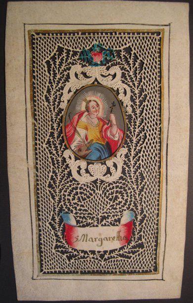Margaretha (Sainte) Canivet sur papier à...