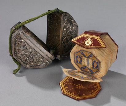 Coran miniature, daté Manuscrit octogonal...
