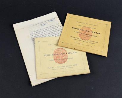 1919 Deux livrets édités par le Roi du Cambodge....