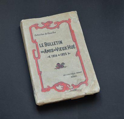 1924 le bulletin des Amis du Vieux Hué, (1914-1923),...