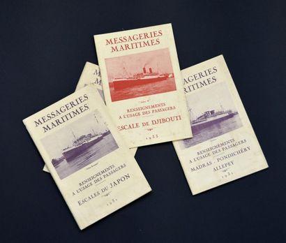 1931 Messageries Maritimes. Un ensemble de...