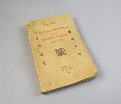 1934 MALLERET (Louis) L'exotisme Indochinois...