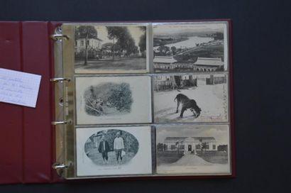 1912 Un album de 80 cartes postales d'Indochine...