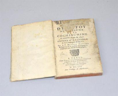1653 SACCANO (Metelle). Relation des progrez...