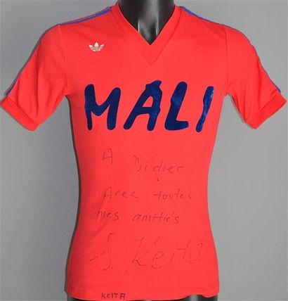 Maillot du Mali n°13 signé par Salif Keita....