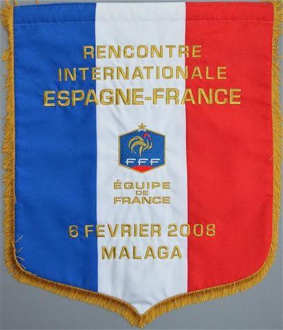 Fanion brodé officiel de l'équipe de France...