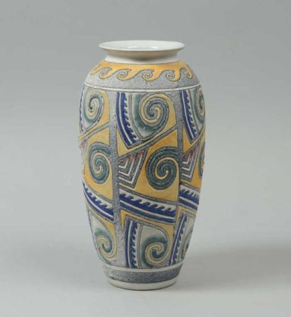 Poterie d'ACCOLAY Grand vase ovoïde à col...