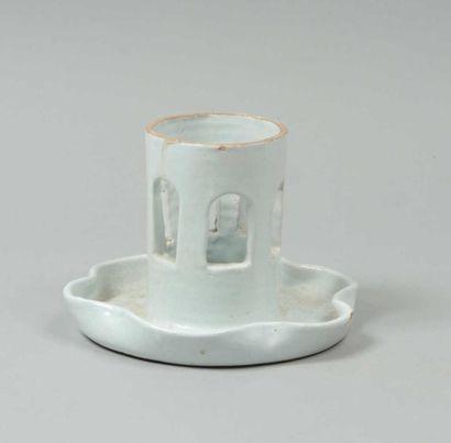 CAPRON Roger (1922-2006) Pied de lampe cylindrique...