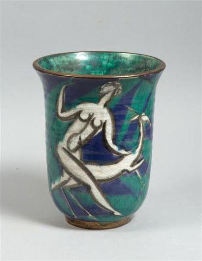 CAZAUX Edouard (1889-1974) Vase à col évasé...