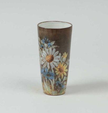 KOSTANDA Alexandre (1921-2007) Vase tronconique...