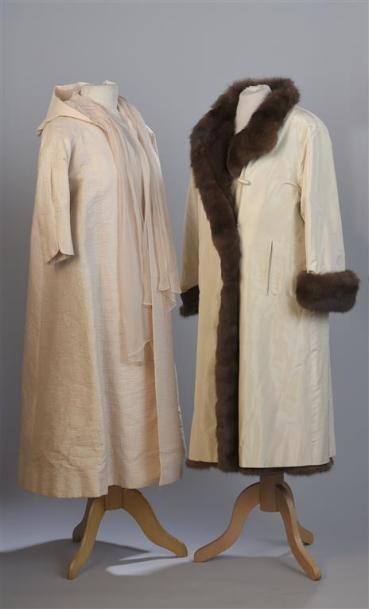 CARVEN Haute Couture. Long manteau d'été...
