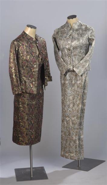 CARVEN Haute Couture. Ensemble veste et robe...