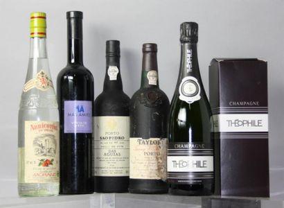 LOTde 5 Bouteilles Vins et Alcools divers...