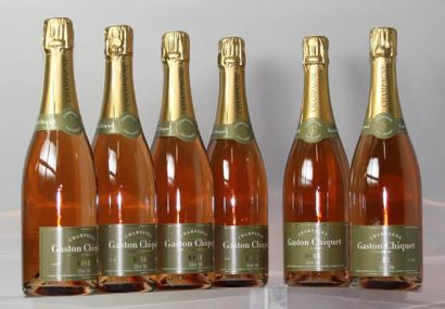 6 Bouteilles CHAMPAGNE GASTON CHIQUET Rosé...