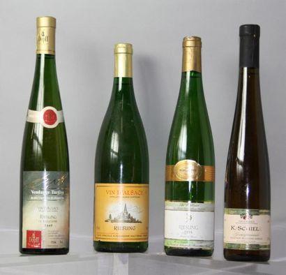 LOT de 4 Flacons de Vins d'Alsace :1 flacon...