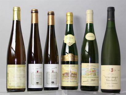 LOT de 6 Flacons de Vins d'Alsace du cépage...
