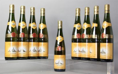9 Bouteilles RIESLING Cave Vinicole Hunawihr...